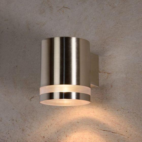 Lucide Basco Outdoor Wall Light - Chrome