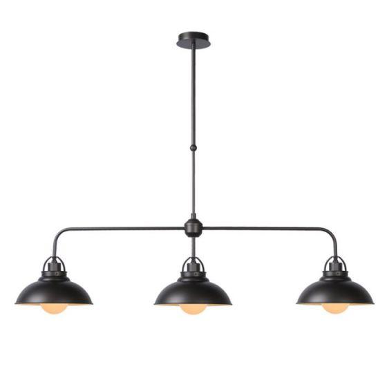 Lucide Hamois 3 Light Bar Ceiling Pendant - Iron Grey