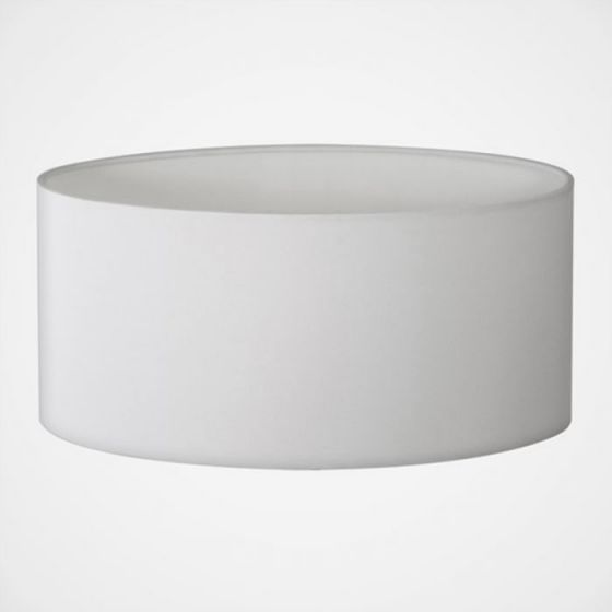 Oval Reading Light Lamp Shade - White