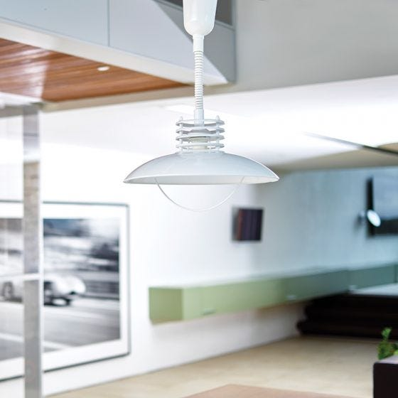 Edit UFO Rise and Fall Ceiling Pendant - White