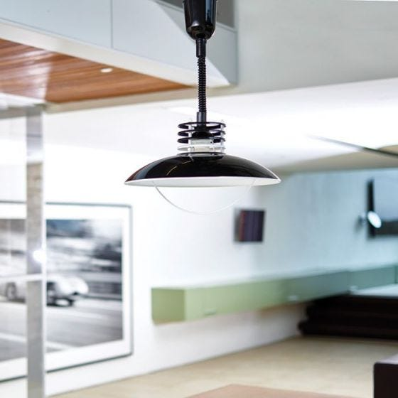 Edit UFO Rise and Fall Ceiling Pendant - Black