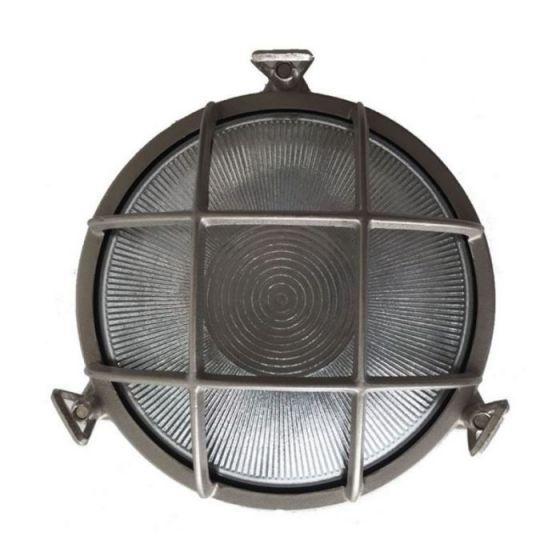 Uber Lamp Rock Round Outdoor Wall Light - Nickel