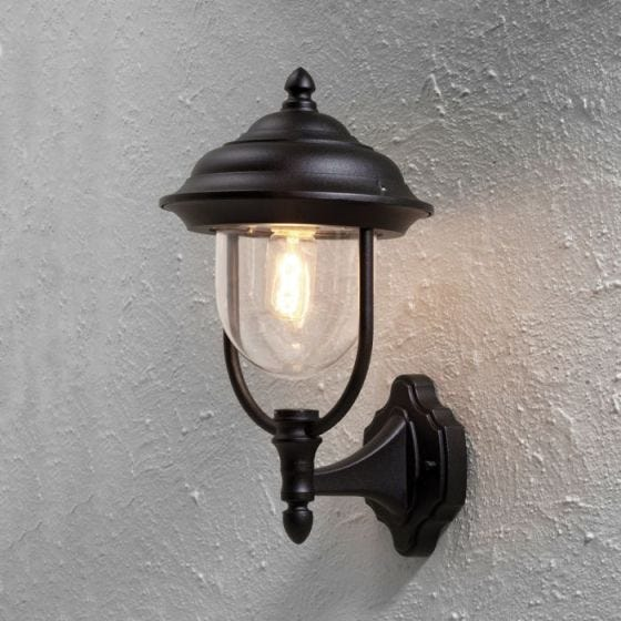 Konstsmide Parma Outdoor Wall Light - Black