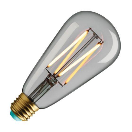 WattNott Willis 4.5W Warm White Dimmable LED Decorative Filament Clear Squirrel Cage Bulb - Screw Cap