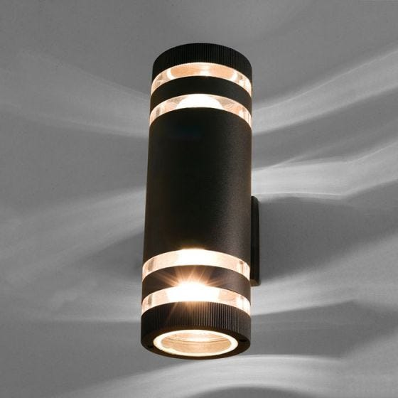 Edit Sierra Outdoor Up & Down Wall Light - Black