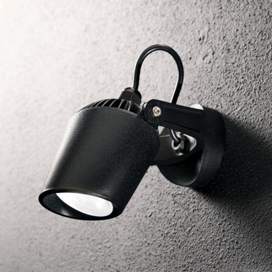 Minitommy Outdoor Wall Mounted Spotlight - Black
