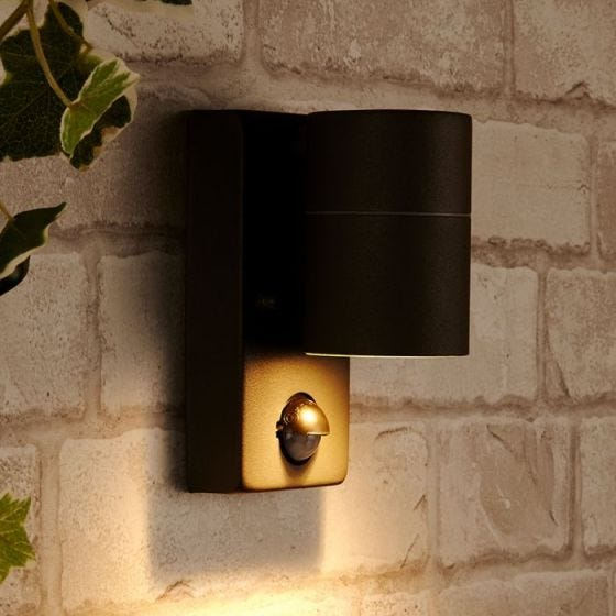 Dan Outdoor Wall Light with PIR Sensor  - Anthracite