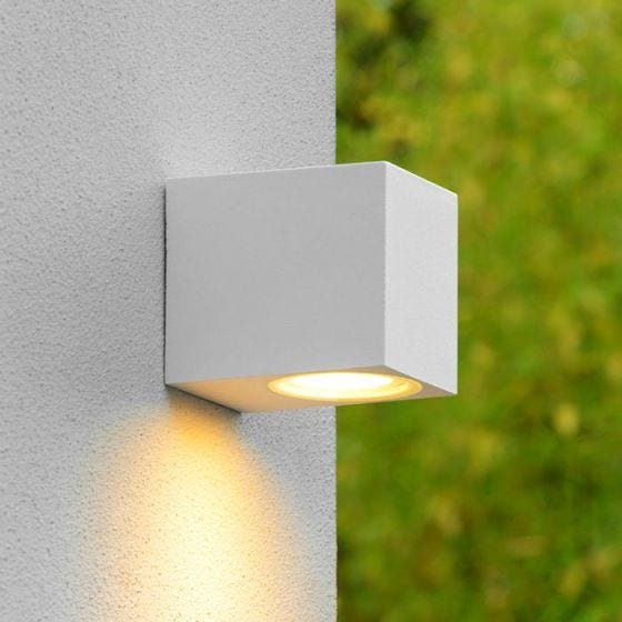 Lucide Zora Square LED Outdoor Wall Light - White