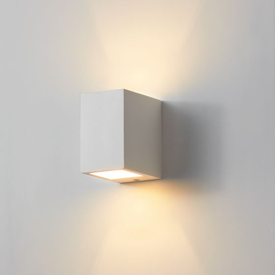 Edit Ray Plaster Up & Down Wall Light - Satin White