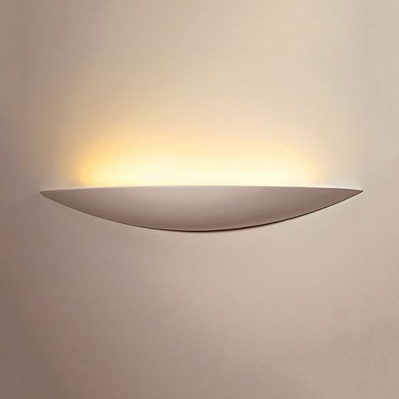 Edit Smile LED Plaster Wall Light - Satin White