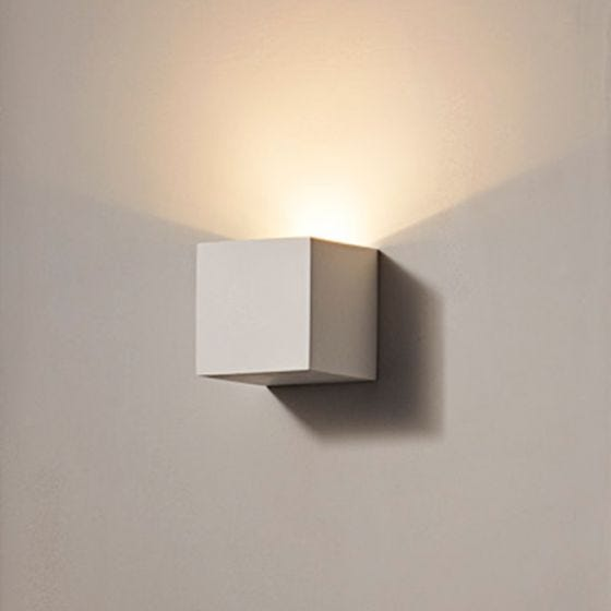 Edit Jazz 80 LED Plaster Wall Light - Satin White