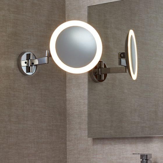 Edit Beauty Illuminated LED Swing Arm Magnifying Mirror Light