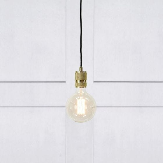 Etui Ceiling Pendant Lamp Holder with Plug - Brass