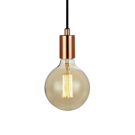 Sky Lamp Holder with Plug - Copper