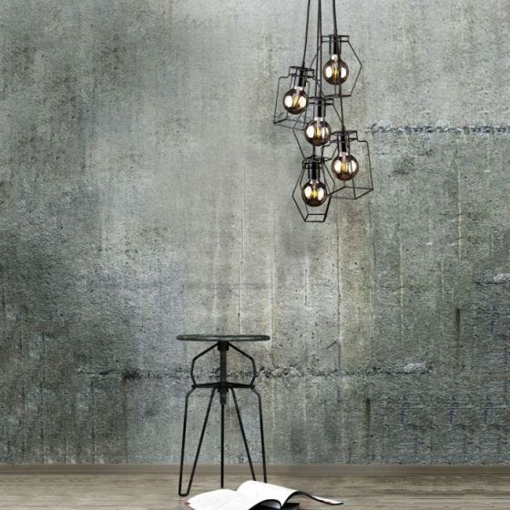 Edit Fiord Cluster Ceiling Pendant Light - Black