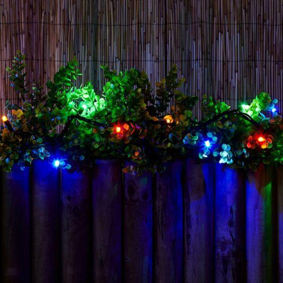 Connectable Multi-Coloured LED String Lights - 50 Lights