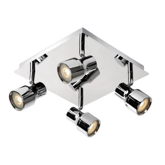 Lucide Sirene 4 Light LED Spotlight Plate - Polished Chrome