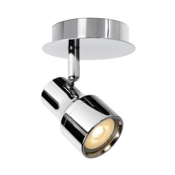 Lucide Sirene Single LED Spotlight Plate - Polished Chrome