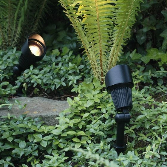 Techmar Plug and Play - Focus Verona LED Garden Spotlight Kit - 4 Lights