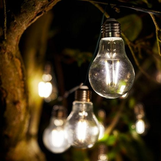 Eureka Retro Solar LED String Lights - 10 Lights