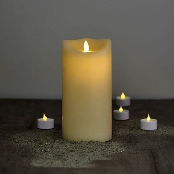 Sirius Sara Exclusive LED Almond Wax Candle - 200mm