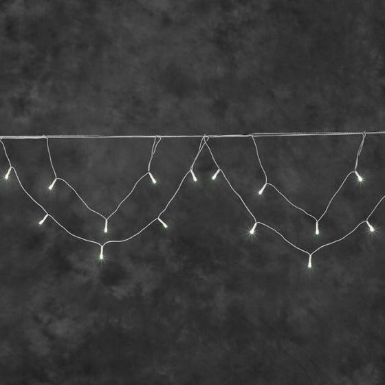 Konstsmide Swag Warm White LED String Lights - 200 Lights
