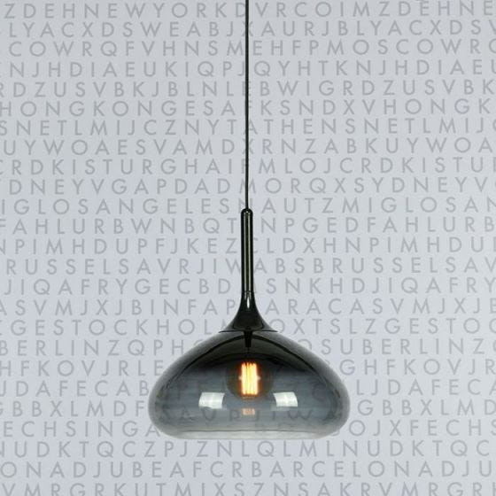 Cooper Glass Ceiling Pendant Light - Black