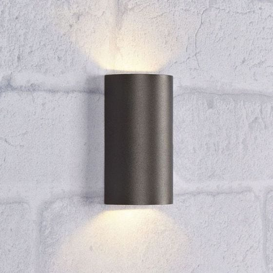 Lyra LED Outdoor Up & Down Wall Light - Dark Grey