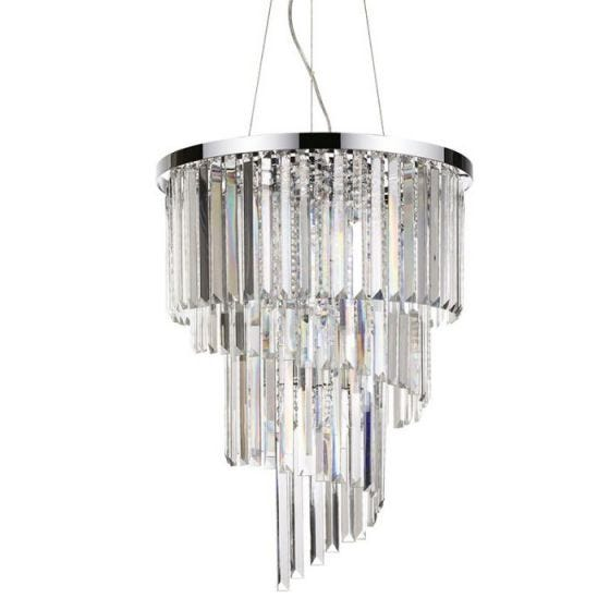 Carlton 12 Light Chandelier - Crystal
