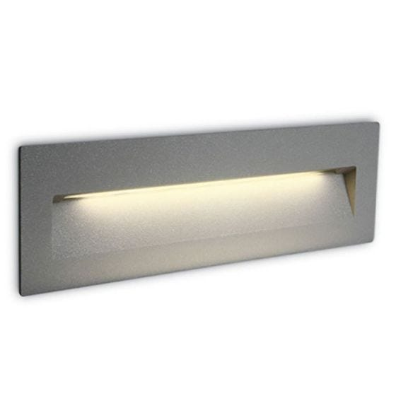 Rectangle LED Outdoor Wall Light - Light Grey