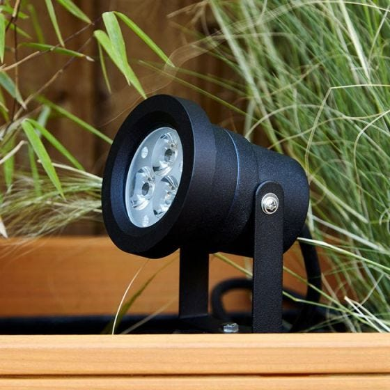 Searchlight Newton LED Garden Spotlight - Black