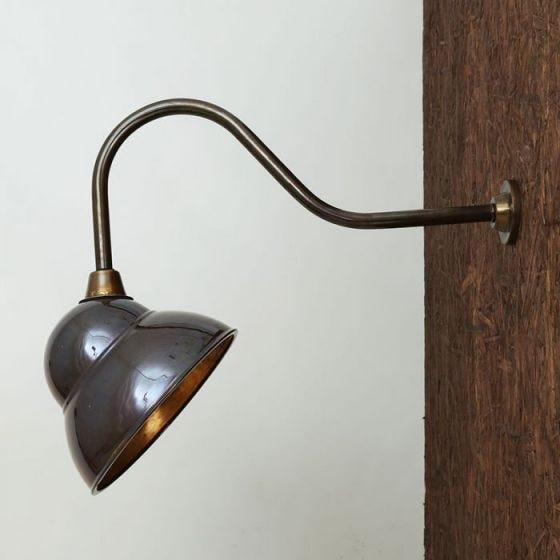 Mullan Novo Outdoor Sign Light - Antique Brass