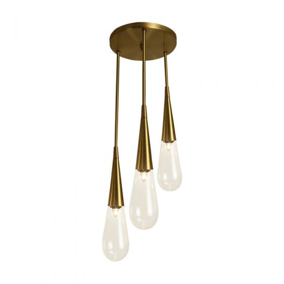 Edit Trinket 3 Light Cascade Ceiling Pendant - Clear Glass