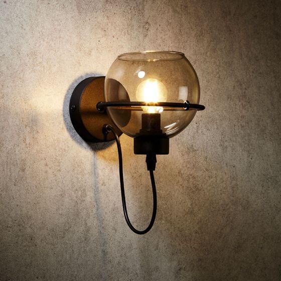 Edit Pobo Wall Light - Smoked Glass