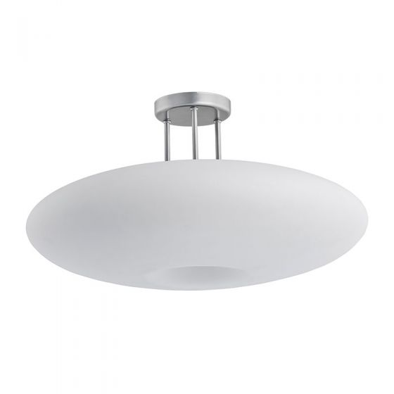 Edit Gala LED Semi-Flush Ceiling Light - White