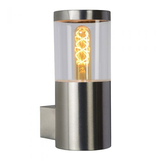 Lucide Fedor Outdoor Wall Light - Satin Chrome