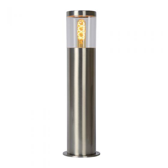 Lucide Fedor Outdoor Short Bollard Light - Satin Chrome