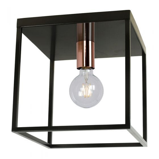 Lucide Arthur Flush Ceiling Light - Black