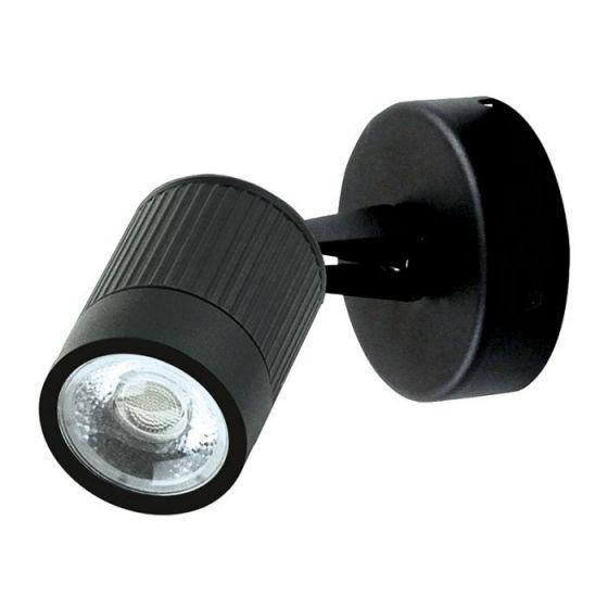 Spot Wall Mounted LED Spotlight - Black