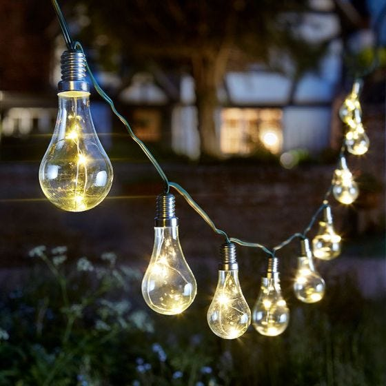 Eureka Solar LED String Lights - 10 Lights