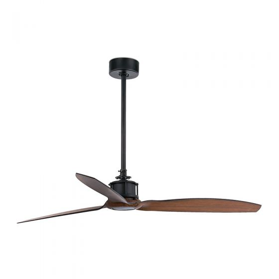 Faro Barcelona Just Ceiling Fan with Remote Control - Black & Wood