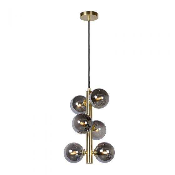 Lucide Tycho 6 Light Ceiling Pendant - Satin Brass