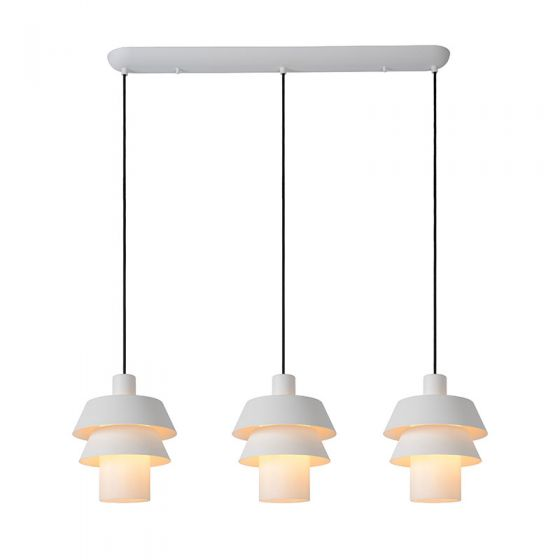 Lucide Jaden 3 Light Bar Ceiling Pendant - White