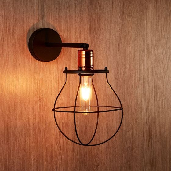 Edit Manufacture Wall Light - Black and Copper