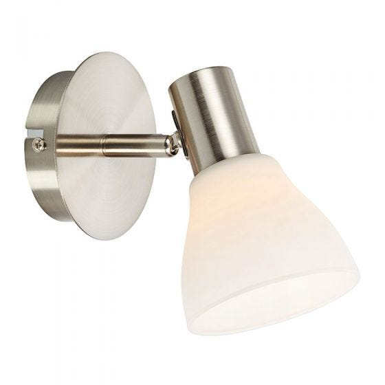 Vero Single Spotlight with Plug - Steel