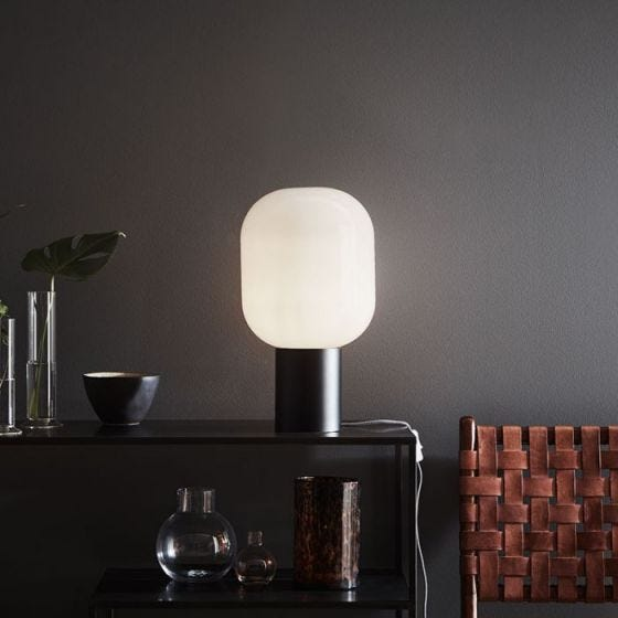 Brooklyn Glass Table Lamp - Opal