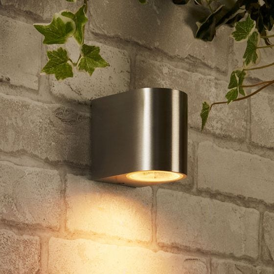 Edit Chile Outdoor Wall Light - Brushed Aluminium