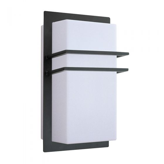 Edit Seattle Outdoor Flush Wall Light - Black