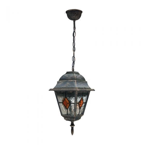 Edit Carlo Pendant Porch Lantern - Antique Gold