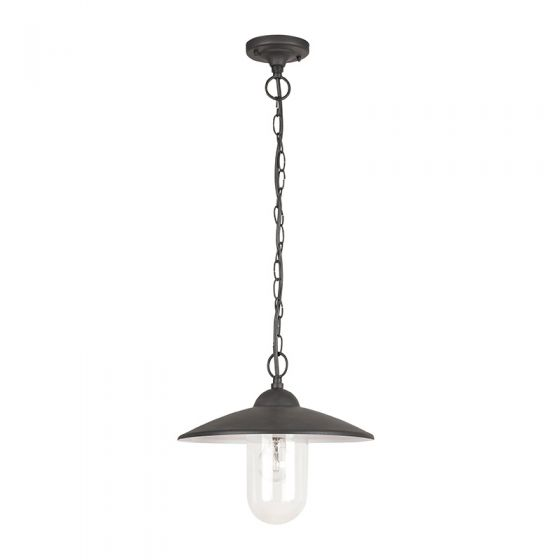 Edit Vigo Pendant Porch Lantern - Matt Black
